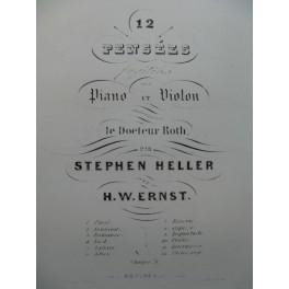 ERNST H. W. HELLER S. Passé Piano Violon ca1845