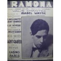 WAYNE Mabel Ramona Chant Piano 1929