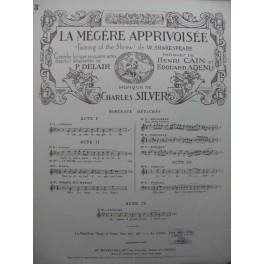SILVER Charles La Mégère Apprivoisée No 3 Chant Piano 1922