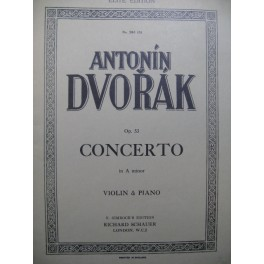 DVORAK Antonin Concerto A minor Violon Piano