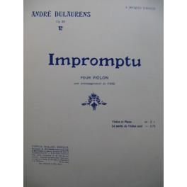 DULAURENS André Impromptu Violon Piano ca1912