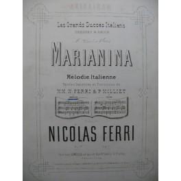 FERRI Nicolas Marianina Piano Chant ca1875