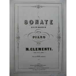 CLEMENTI Muzio Sonate en Ut Majeur op 2 Piano ca1855