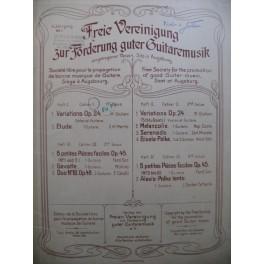 GIULIANI Mauro Variations MERTZ J. K. Etude Violon Guitare