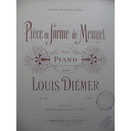DIEMER Louis Pièce en Forme de Menuet Piano