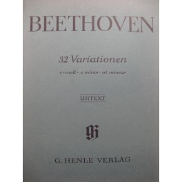 BEETHOVEN 32 Variationen Piano