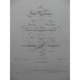 OSBORNE BÉRIOT Nocturne No 1 Violon Piano 1837