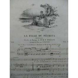 POISSON H. T. La Fille du Pêcheur Chant Piano ca1830