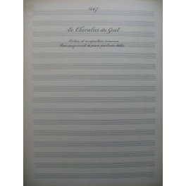 Le Chevalier du Guet Manuscrit Chant Piano 1916