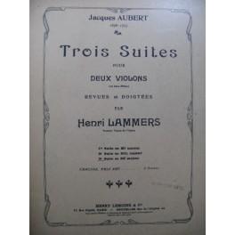 AUBERT Jacques 3ème Suite Ré maj pour 2 Violons