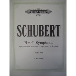SCHUBERT Franz H moll Symphonie Si mineur