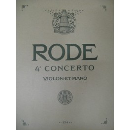 RODE Pierre Concerto n° 4