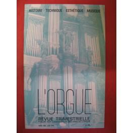 L'ORGUE Revue N° 198 Avril-Juin 1986