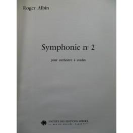 ALBIN Roger Symphonie No 2 Orchestre 1966