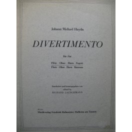HAYDN Johann Michael Divertimento Flûte Hautbois Cor Basson