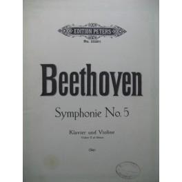 BEETHOVEN Symphonie No 5 Piano Violon