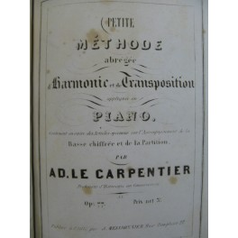 HUBERT L. P. Solfège LE CARPENTIER Traité de Composition Harmonie ca1850
