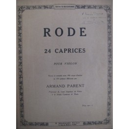 RODE Pierre 24 Caprices 1926