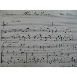 LAPARRA Raoul Bien loin d'ici Manuscrit Chant Piano