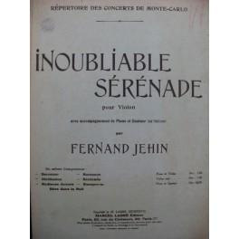 JEHIN Fernand Inoubliable Sérénade Piano Violon Alto Violoncelle 1926