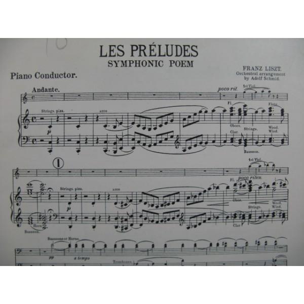 Liszt Franz Les Preludes Symphonic Poem Orchestre 1913