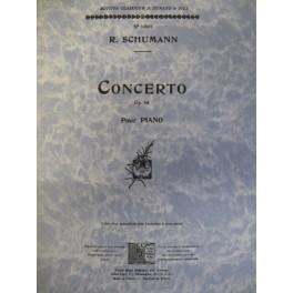 SCHUMANN Robert Concerto op. 54