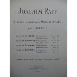 RAFF Joachim Tarentelle op 85 Quatuor à cordes ca1897