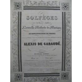 DE GARAUDÉ Alexis PANSERON Auguste Solfège XIXe