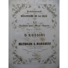 MARCHESI Mathilde 24 Vocalises pour Mezzo Soprano ca1864