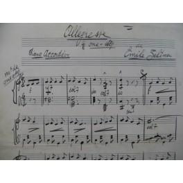 Allegresse Emile Zeltner Manuscrit Accordéon