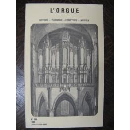 L'ORGUE Revue N° 205 Janvier Mars 1988