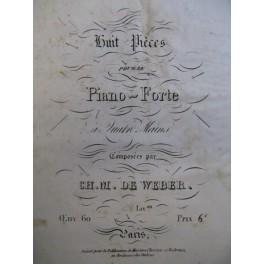 WEBER Carl Maria von 8 pièces op. 60 N° 5 à 8