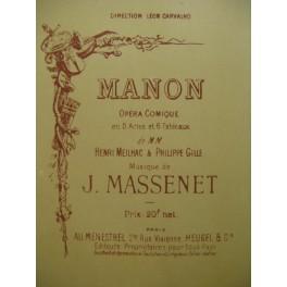 MASSENET Jules Manon 1895