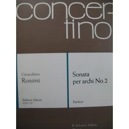 ROSSINI G. Sonata per archi No 2 Orchestre