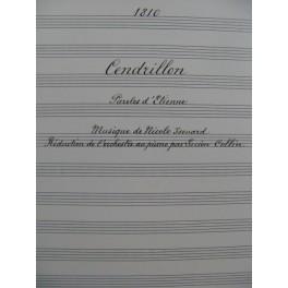 ISOUARD Nicolo Cendrillon Manuscrit Chant Piano 1917