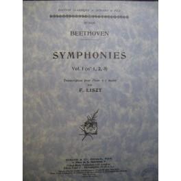 Beethoven Ludwig van Symphonies 1 à 3 par Liszt