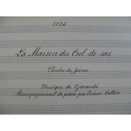 COLLIN Lucien Garaudé La Maison du Cul de Sac Chant Piano 1917