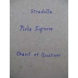 STRADELLA Alessandro Pieta Signore Manuscrit Chant Quatuor à cordes