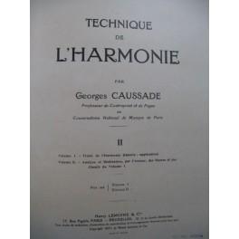 CAUSSADE Georges Technique de l'Harmonie Vol 2 1947