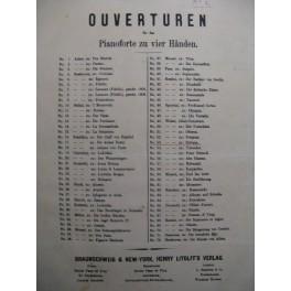 WEBER Carl Maria de Ouverture de Sylvana ca1860