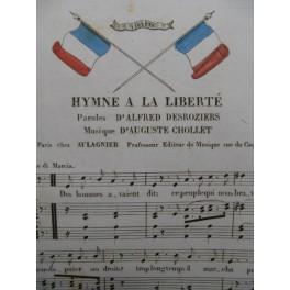 CHOLLET Auguste Hymne à la Liberté