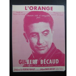 Gilbert BECAUD L'Orange Chanson - Partitions-anciennes com