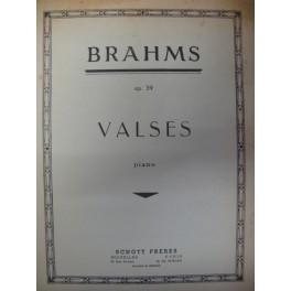 BRAHMS Johannes Valses op 39