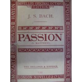 BACH Jean-Sébastien Passion St Matthew