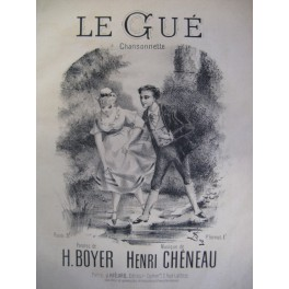 CHÉNEAU Henri Le gué