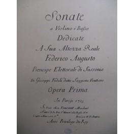 SAGGIONE Gioseppe Fedeli Sonate en Mi Majeur