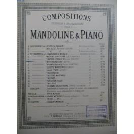 PIETRAPERTOSA J. Fanfare Joyeuse Piano Mandoline XIXe