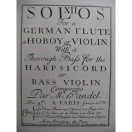 HAENDEL Georg Friedrich Sonate en Fa Majeur