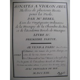 REBEL Jean-Ferry Sonate en Ré mineur