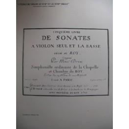 DUVAL François Sonate en La Majeur